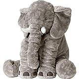 XMWEALTHY Unisex Baby Elephant Plush Doll Cute Large Size Stuffed Animal Plush Toy Doll Gifts for Girls Boys Grey