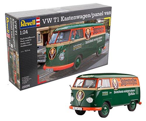 Revell- Kastenwagen Volkswagen Maqueta VW T1 Van Jägermeister, Kit Modelo, Escala 1:24 (07076), Multicolor