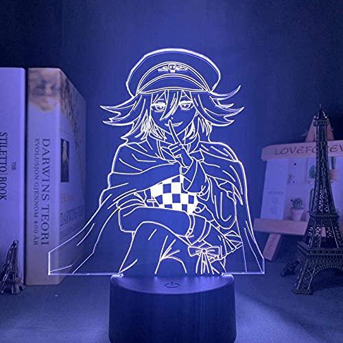 Lámpara de noche 3D Lámpara de ilusión de anime Danganronpa Luz de noche LED Kokichi Lámpara de abuela para decoración Regalo infantil Danganronpa Lámpara de mesa acrílica Kokichi