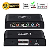 HDMI to YPbPr Scaler Converter-MOYOON HDMI to Component Video 1080P (YPbPr) RGB + R/L Converter Adapter Support Coaxial for PS3, PS4, Blu-ray Player, DVD, Xbox, Notebook[with Scaler Function] (Black)
