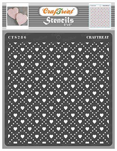 Craftreat Geometrische Schablone Love Checks 6