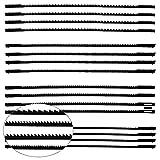 16 Hojas de Sierra de Marquetería 10/15/18/24 Dientes Cuchilla de Sierra de Mesa para Serrar Madera Plástico Espuma Metal Blando - 132 mm