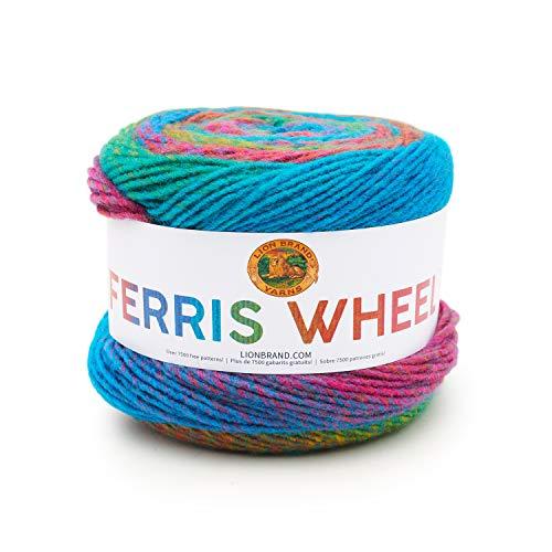Lion Brand Yarn Company 217-604 Riesenradgarn, Sprinkles, ein Knäuel