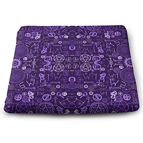 ADGoods Quadratisches Sitzkissen Supernatural Symbols Two Memory Foam Seat Cushion Chair Pad (Gives Relief from Back Pain) Washable and Breathable Cover