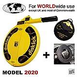 BS-Disklok Gelb (Model 2020) Bundle mit Lenkrad-Schutzbezug und Aufbewahrungstasche - Lenkradkralle und Airbagschutz für Lenkräder (für Linkslenker EU ohne UK) (S 390)
