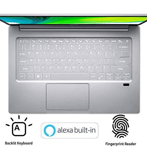 Product Image 1: Acer Swift 3 Thin & Light Laptop, 14″ Full HD IPS, AMD Ryzen 7 4700U Octa-Core with Radeon Graphics, 8GB LPDDR4, 512GB NVMe SSD, Wi-Fi 6, Backlit KB, Fingerprint Reader, Alexa Built-in, SF314-42-R9YN