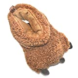Millffy Funny Baby Boys Girls Soft Plush Slippers Bear PAW Animal Boots Infant Shoes Toddlers, Kids Costume Footwear (6 US Toddler, Brown Bear)