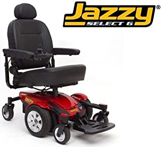 Pride Mobility JSELECT6 Jazzy Select 6 Electric Wheelchair - Red