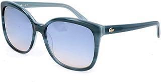 5ea62482c80e Lacoste Women's L747S 466 57 Sunglasses, Black (Striped Petroleo)