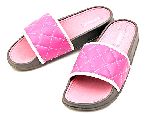 Luckers Women's Sun, Sand And Surf Slide Sandals (8, Pretty Pink)