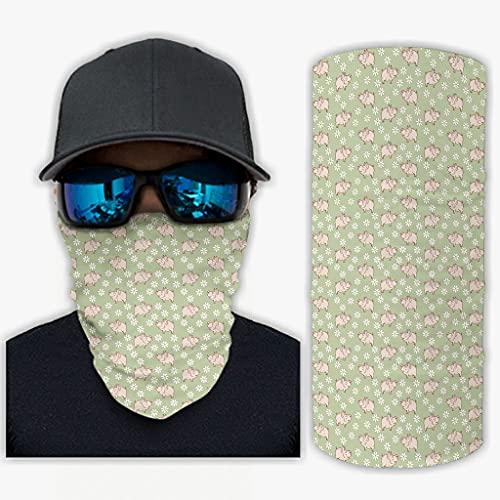 CCMugshop Pañuelo para la cara con estampado de margaritas, color rosa, talla única