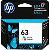 HP 63 | Ink Cartridge | Tri-color | Works with HP DeskJet 1112, 2100 Series,...