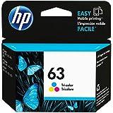 HP 63 | Ink Cartridge | Tri-color | Works with HP DeskJet 1112, 2100 Series, 3600 Series, HP ENVY 4500 Series, HP OfficeJet 3800 Series, 4600 Series, 5200 Series | F6U61AN