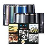 H & B Colored Pencils & Drawing Pencils Set -...