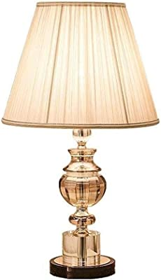 Hammer Lampe de Table, Lampe de Table en Cristal - Lampe de Table rétro américaine E27 Lampe de Chevet, Salle d'étude Salon Chambre Décoration Lampe de Table Bouton