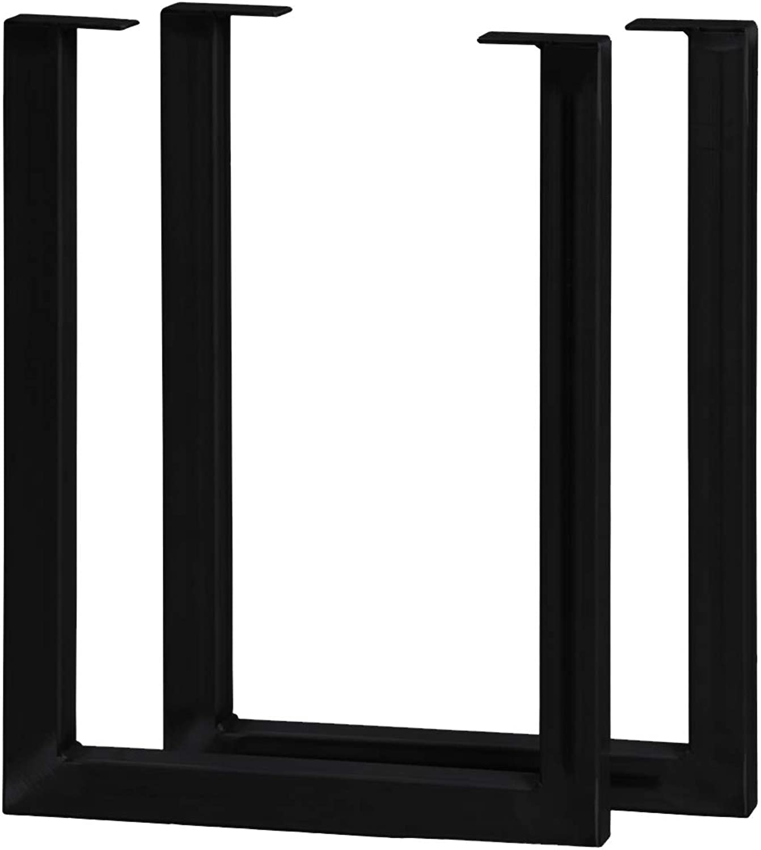 20  High Furniture Legs 2 Pack Steel Black