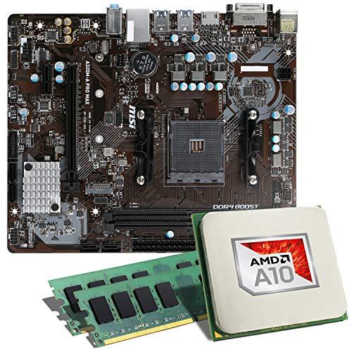 AMD A10-9700 / MSI A320M-A PRO MAX / 16GB Mainboard Bundle | CSL PC Aufrüstkit | AMD A10-9700 APU 4X 3500 MHz, 16GB RAM, Radeon R7, GigLAN, 7.1 Sound | Aufrüstset | PC Tuning Kit