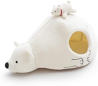 En isbjörn som kattkoja, kattgrotta eller katthus.