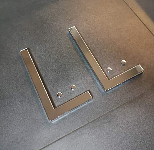 2er Set Chrom 30cm Wandhalterung Waschtischplatte Regalträger Konsolenhalterung Konsolenträger Wandkonsole