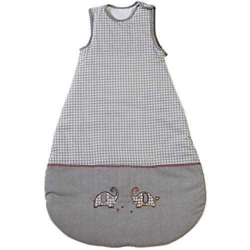 Baumwolle Schlafsack Jumbotwins, 110 cm lang, liebevolle Elefantenmotive - Elefant Kinder Kleinkind Baby Winter