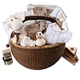 Organic Luxury Baby Gift Basket - Group Gift Idea for Baby Shower & Corporate Gifts