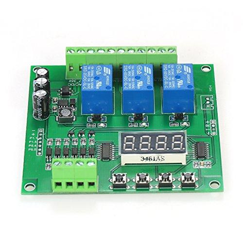 KKmoon Programmierbare 3 Kanal LED Relaismodul DC / AC7V ~ 36V Motor Treiber Controller Kompatibel mit Arduino Raspberry Pi¡