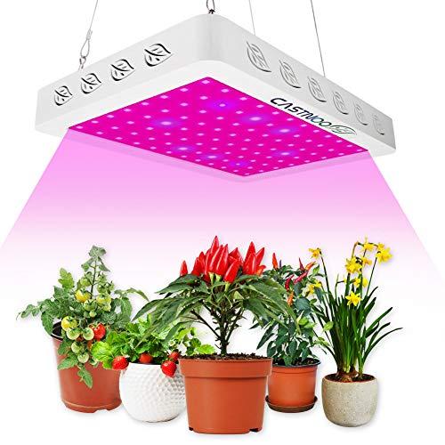 600W LED Pflanzenlampe Vollspektrum Pflanzenlicht LED Grow Lampe mit Wärmeableitung System LED Wachsen Licht für Zimmerpflanzen, Aussaat, Zucht, Gemüse, Blume (96PCS LEDs)