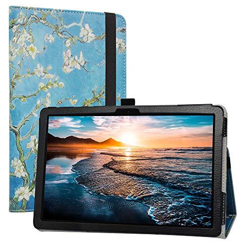 Labanem Custodia con Huawei MatePad T10s, PU Pelle Slim Flip Case Cover Protettiva Pieghevole Stand Cover per 10.1  Huawei MatePad T10s  MatePad T10 2020(AGS3-L09 AGS3-W09) Tablet - Almond Blossom