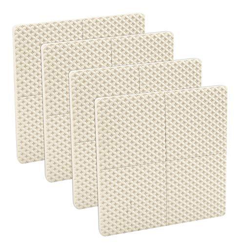 LYTIVAGEN 20 Stück Möbel Pads Antirutsch Möbelgleiter Selbstklebend Gummi Stuhlgleiter Möbelfüße Pads zum Schutz von Fliesen, Laminat, Holzböden, 4,2 x 4,2 cm(Beige)