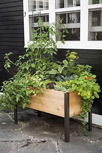 Gardener's Supply Co. 2 Ft x 4 Ft Raised Garden Bed Elevated Cedar...