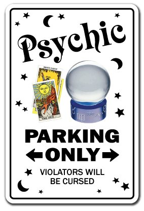 Psychic Sign Parking Palm Reading Gypsy Tarot Reader Palmist Fortune Teller | Indoor/Outdoor | 12' Tall