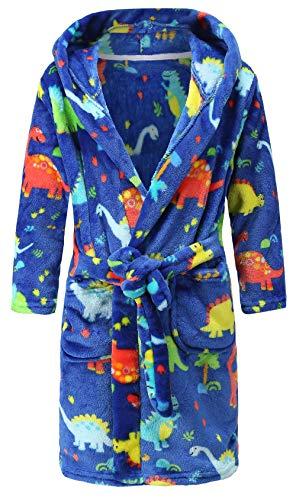 Bata con capucha para niños de 1 a 11 años, polar, de suave felpa, se puede usar para dormir