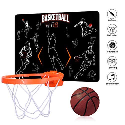 ZHIMO Mini Electronic Auto Scoreboard Basketball Hoop Indoor Basketball Hoop Set- Ideal Basketball Toy Gifts for Kids Boys Teens