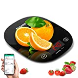 Smart Food Scale,Bluetooth Digital Kitchen Scale for Baking Cooking,Accurate Food Scale Digital Weight Grams and Oz Nutritional Calculator Scale with Smartphone APP for Calorie Counting,Weight Loss