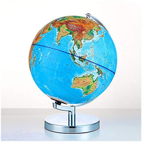 HAOLIN Wereld Globe (dia 25cm) Verlichte Wereld Globe Voor Kinderen Gebouwd In Led Nachtkijker Lamp Home Décor En Office Desktop