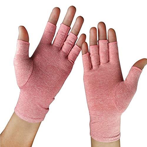 MJTCJY Half Finger einen.Kreislauf.durchmachenhandschuh Arthritis Druck Gesundheit Handschuhe Ash hoher elastischer Breathable Anti-Ödem...