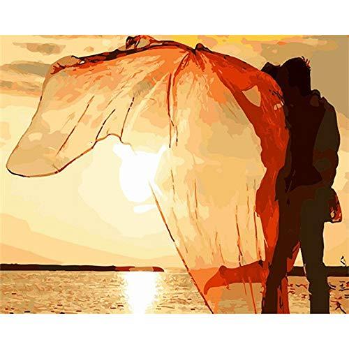 LvJin DIY Digital Painting Hochzeitsfoto Stil 1 , Rahmenlose Schwarzweiß-Leinwand , 20 * 26In , Malwerkzeuge Kunst , Kinder Leinwand Malerei vas Gemälde nach Zahlen