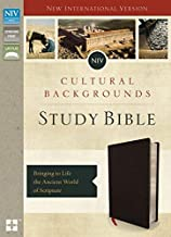 NIV, Cultural Backgrounds Study Bible, Bonded Leather, Black, Indexed, Red Letter Edition: Bringing to Life the Ancient Wo...
