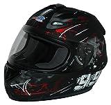 Protectwear Casco moto nero rosso disegno 99 FS-801-99R, Taglia S
