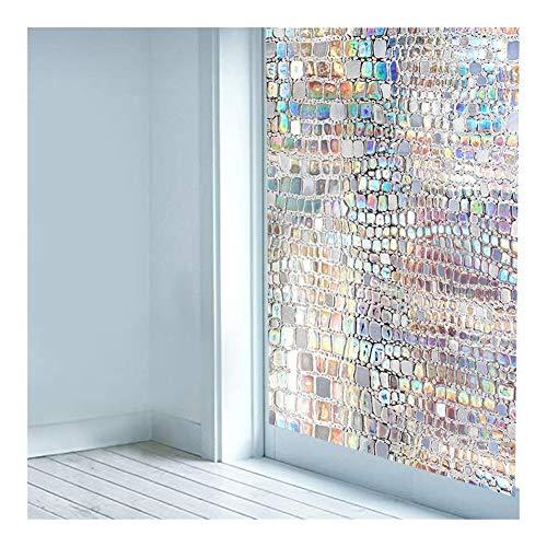 JINAN Sichtschutz-Fensterdekorfolie, 3D, kein Kleber, statische Haftung, Anti-UV-Fensteraufkleber, selbstklebende Vinyl-Glasfolie 75 x 500 cm.