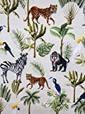 Slantastoffe Baumwollstoff Kinderstoff Tierchen Zoo Breite