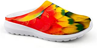 Sandalias con diseño de Plumas, Unisex, para Adultos, para el Tiempo Libre, de Malla