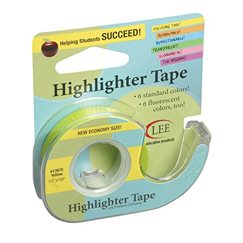 Lee Products LEE13975-6 Removable Highlighter Industry No. Over item handling ☆ 1 Tape44; - 6 Yellow