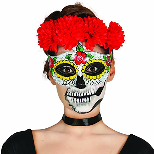 Amakando Máscara Mexicana de Muertos Halloween Antifaz Sugar Skull...