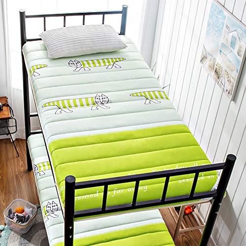 Single Mattresses,Thick Breathable Sponge Padding,Foldable Soft Mat for Student Single Dormitory,5,90 * 190cm