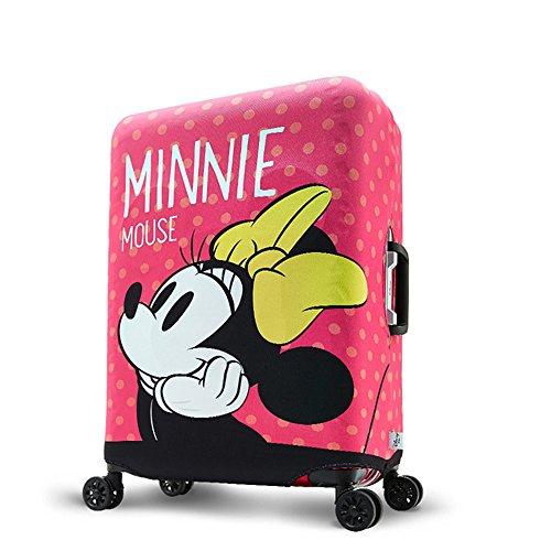 旅のセレクトショップ!スーツケースカバーDISNEYMINNEミニーキャリーバッグカバー保護カバーキャラクターピンク(M)