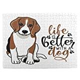 Love and Beagles Puzzle 500 Piece Puzzles for Adults Jigsaw