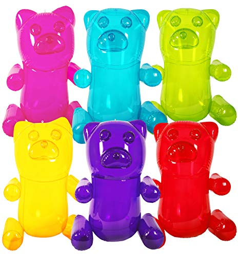 Kangaroo's HUGE 24' Inflatable Gummy Bears (6-Pack); Girls Party Favors; Party Decor! Fun Colors