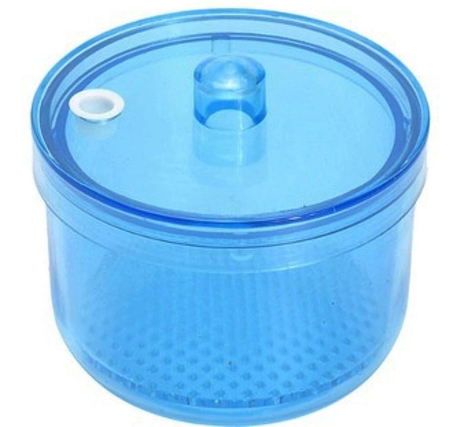 忠実酸最も遠いMOFF 入れ歯洗浄ケース ポット 網付き リテーナーボックス デンタルケース 高温高圧殺菌 洗浄剤対応可能 耐熱温度134度 シンプル (ブルー)