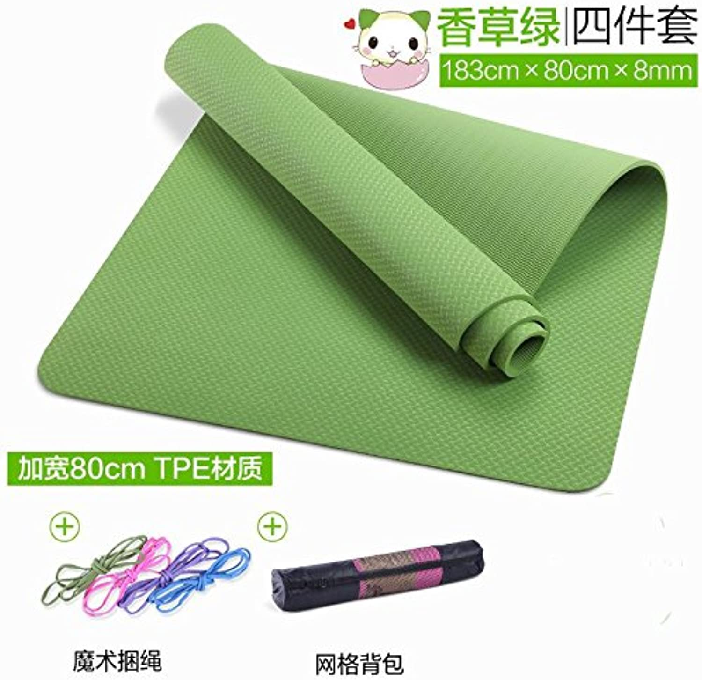 YOOMAT Für Anfnger Yoga Matte Erweiterung 80 Lengthless Slip Decken und Verdickung Girls' GAD Matten für Das Tanzen Pads